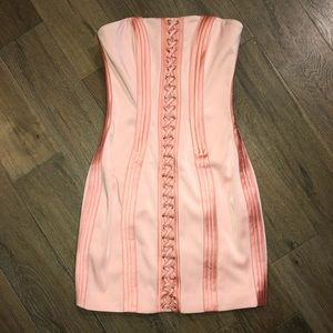Pink House of CB strapless dress - NWT